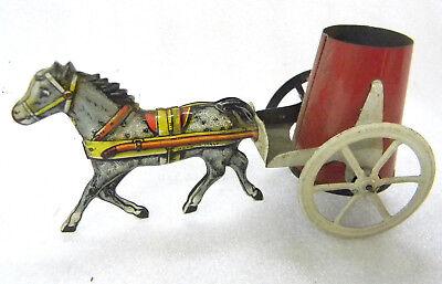 Blechspielzeug Tin Toy Pennytoy - Pferdefuhrwerk Pferdewagen Made in Italy 1938