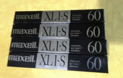 4  MAXELL XLI-S 60   NORMAL POSITION LOW NOISE CASSETTE NEW  SEALED JAPAN