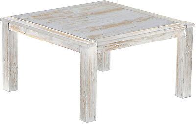 Esstisch Holz Pinie massiv 140x140 Brasil weiss shabby Restaurant kolonial Tisch - Restaurants Terrasse Tisch