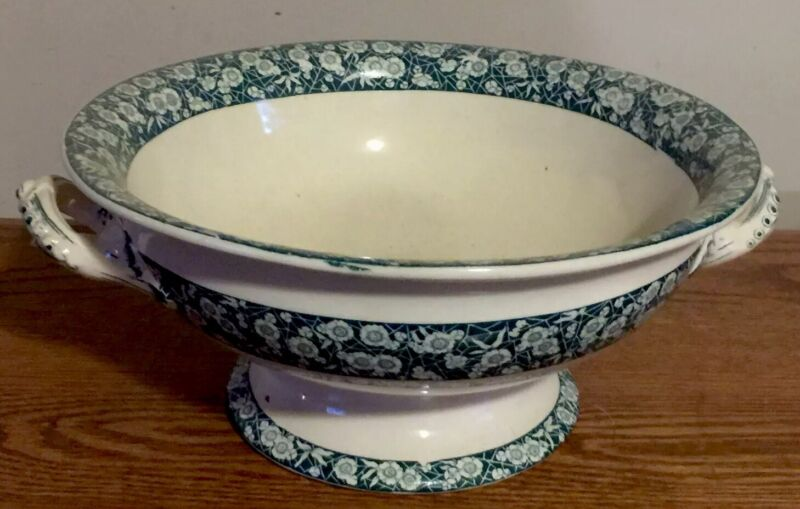 ANT 1879 Serving Bowl Ironstone Cloissonnie JD & Co Fancy Stoneware