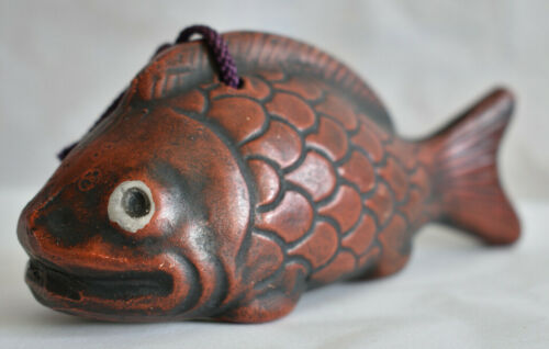 Japanese Old Clay Bell Dorei 1985 : design Red snapper