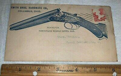 ANTIQUE SMITH BRO HARDWARE COLUMBUS OH REMINGTON SHOTGUN RIFLE GUN ENVELOPE SIGN
