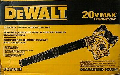 Dewalt DCE100B 20 Volt Compact Cordless Blower NEW in Box