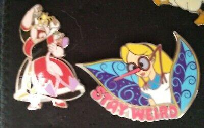 2 Disney Pins Alice in Wonderland