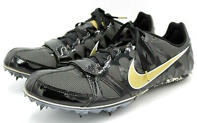 new concept d8946 460d2 Nike Zoom Rival S 6, Men 11 Wmn 12.5, Black, Track Field Run Sprint Cleats  Race