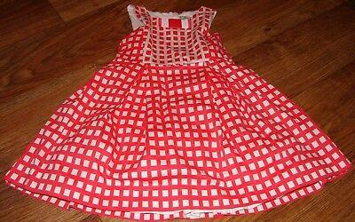 - MAYORAL LITTLE GIRLS SIZE 5 BEAUTIFUL RED/WHITE SLEEVELESS DRESS