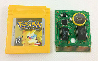Authentic Gameboy Pokemon YELLOW Pikachu Cart w/ New Battery & Label Installed!