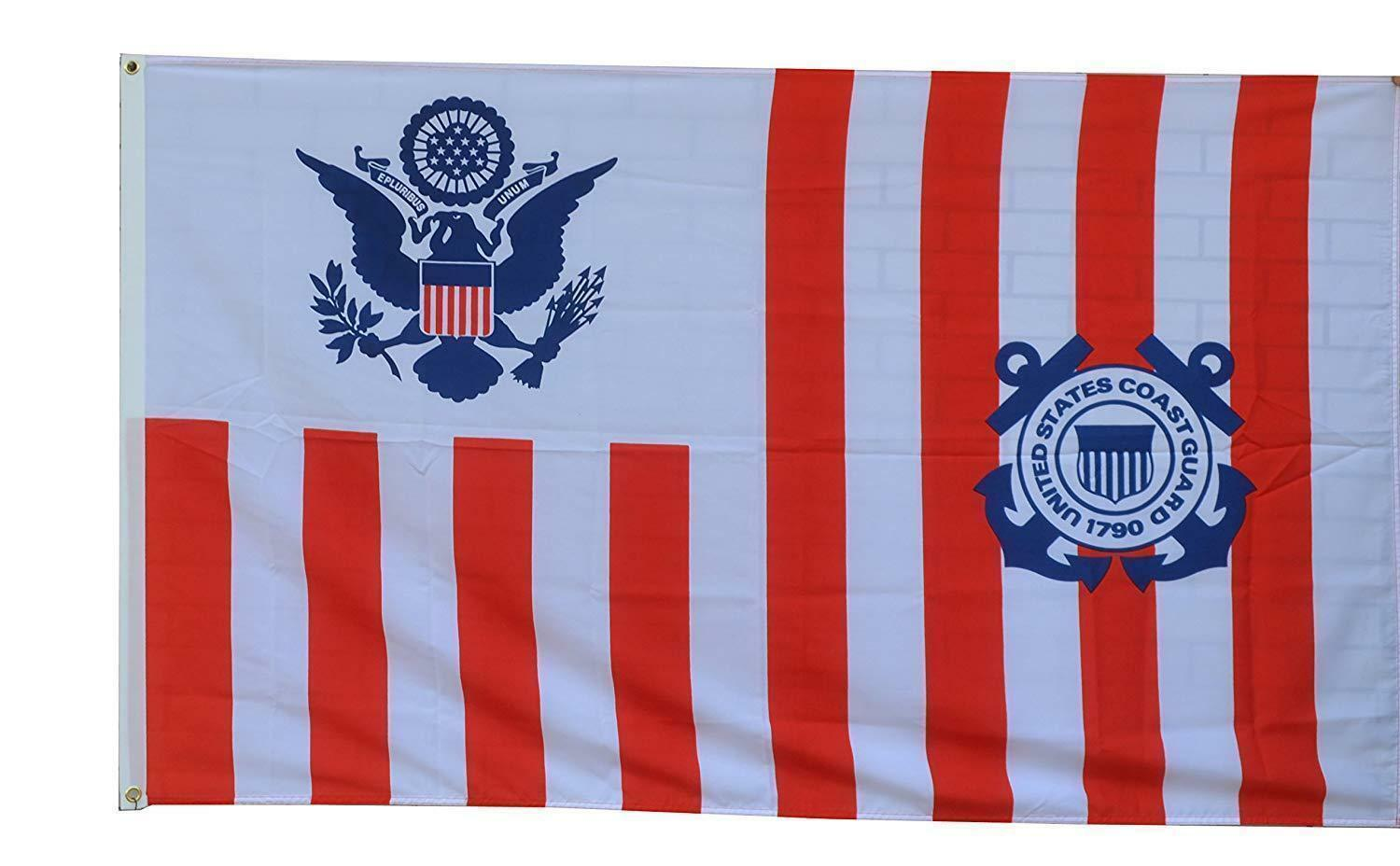 Maritime banner Ensign of the Coast Guard flag 3x5ft banner