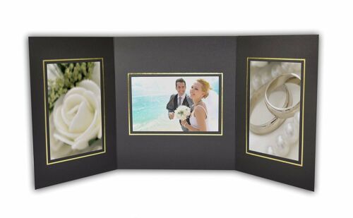 Cardboard Photo Folder For 3 4x6 Photo (Pack of 50) GS002 Black Color