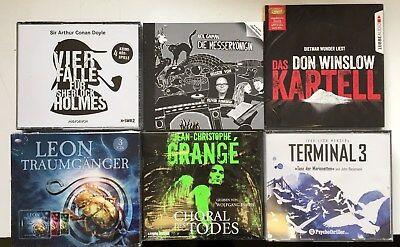 XXL HÖRBUCH-PAKET |  6  Krimi/Thriller  HÖRBÜCHER  auf 30 CD Hammerpreis !