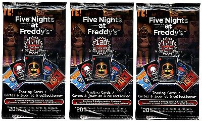 3X Fnaf Five Nights At Freddys Official Trading Card Booster Packs Sealed