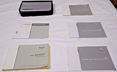 2008 NISSAN QUEST OWNER MANUAL 6/PC.SET&NISSAN CONVENIENT ZIPPERED FACTORY CASE