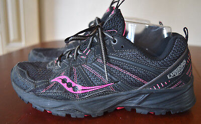 Saucony Grid Excursion TR8 Womens Size 8 Black Pink
