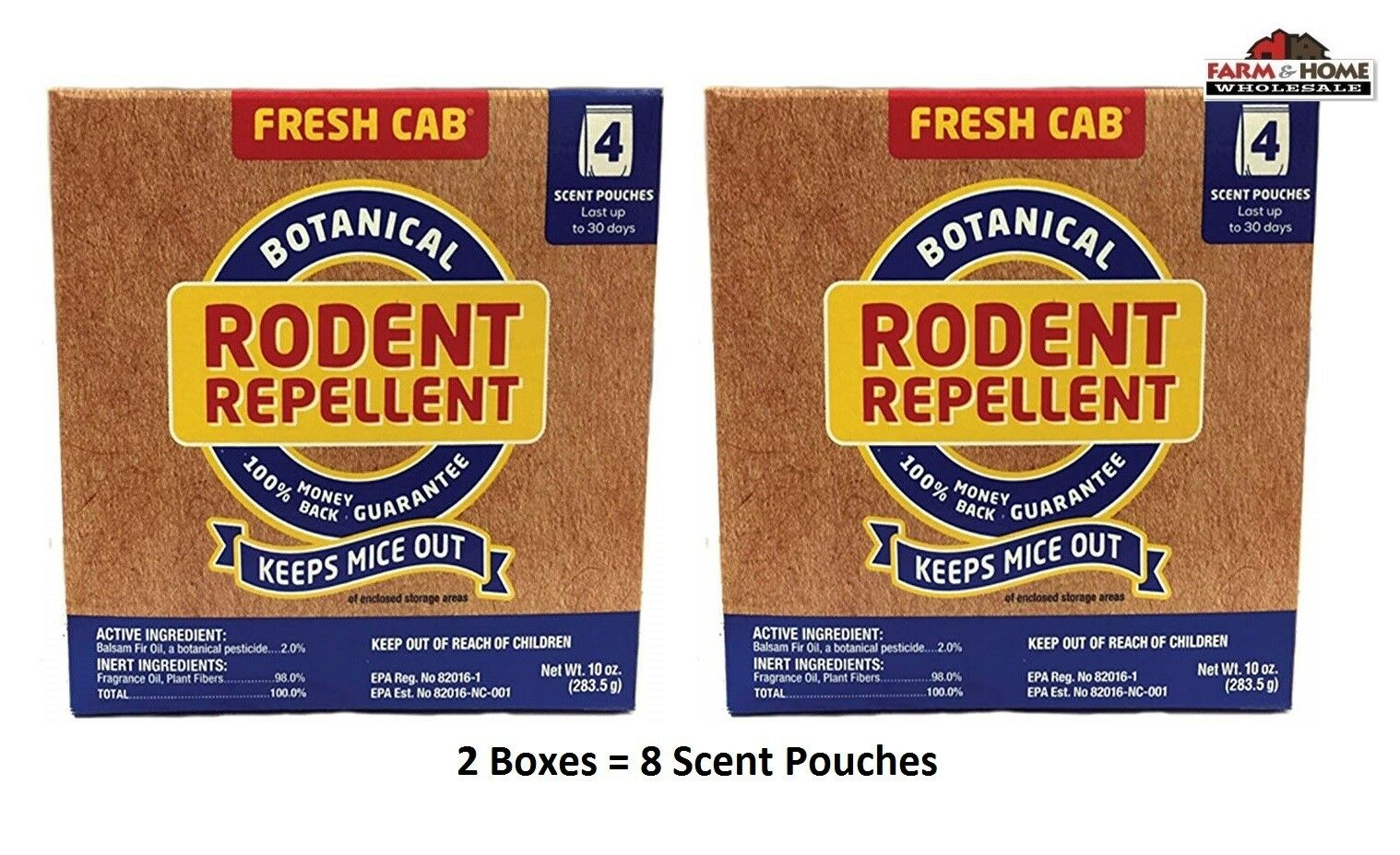 ea Fresh Cab FC6 4 Pouch Pack Botanical Mouse / Rodent Cont