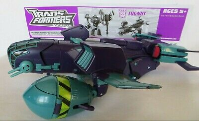 Lugnut Bomber Plane Animated TRANSFORMERS Voyager Class Decepticon Level 3 2008
