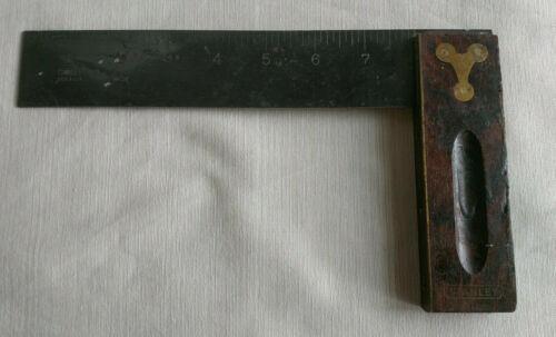 "Vintage Stanley Wood Tri Square w/ Brass Inlays 8"" No. 20"