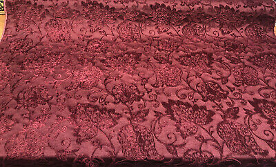 chenille claret upholstery fabric by the yard