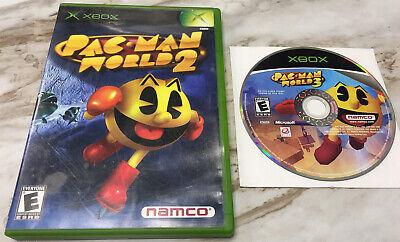 Pac-Man World 2 & 3 (Microsoft Original Xbox, 2005) GREAT SHAPE! FREE SHIPPING!