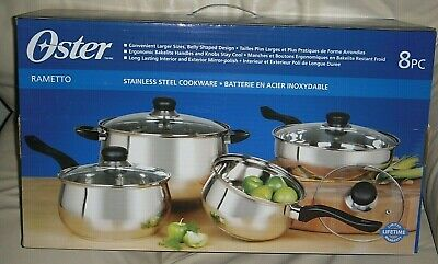 Oster Rametto 8 Pc. Stainless Steel Cookware -