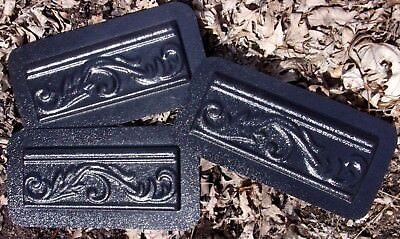 3 plastic trim molds plaster resin cement molds