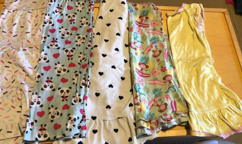 Girls Clothing Lot (Pajamas PJ's Nightgown) Size Small S 4 5 6 Carter