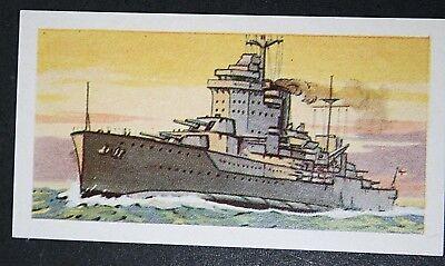 HMS WARSPITE  Royal Navy Battleship  WW1 & 2   Illustrated Card  # VGC
