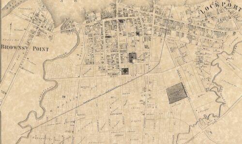Keyport Hazlet Union Beach NJ 1873 Maps with Homeowners Names Shown