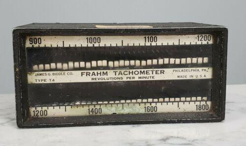 Vintage US Navy James Biddle Frahm Resonant Reed Tachometer Type T4