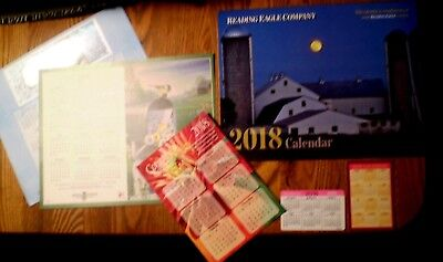 Assorted 2018 Calendars Wallet  Reading Eagle Wall  Boystown 10 5X8 25  Garden