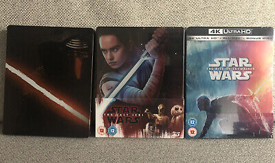 Star Wars Sequel Trilogy Steelbook Blu Rays New And Sealed