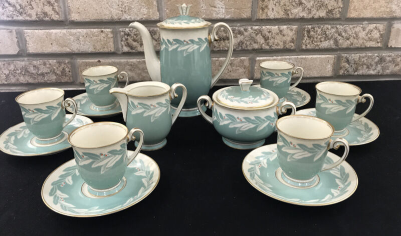 Antique Pirkenhammer Czechoslovakia Art Deco Tea Coffee Chocolate Set Service 6