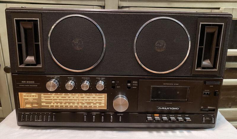 "GRUNDIG RR 2000 ""RARE"" RADIO CASSETTE DECK BOOMBOX ""Nice Shape"""