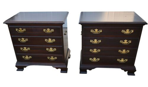 Pair of Hammary Traditional Style Cherry Nightstands