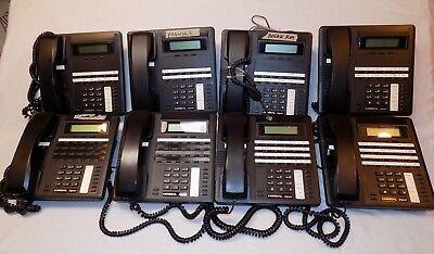 Comdial Impact Telephone Office Phone Lot Of 8 83245-fb 83125-fb Black Handsets
