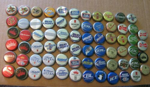 70  MOST DIF ANHEUSER BUSCH  BREWING CO BUD BUDWEISER MICHELOB   BEER CAPS