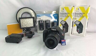 Canon EOS Rebel T3 DSLR Camera with a Canon EF-S 18-55mm Lens + Accessories