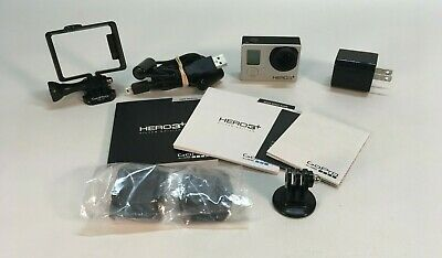 GoPro Hero3+ Hero 3 Plus Silver Edition Bundle - Charger, Mounts (L3)