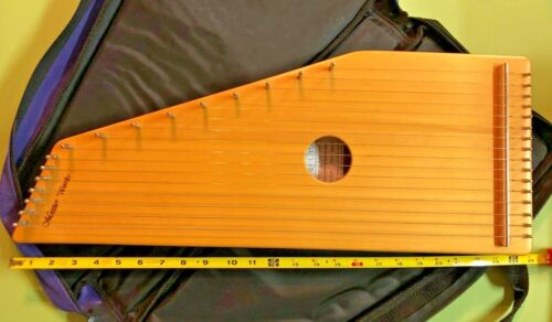 Master Works Zither Model MWZ16 Low Serial 0005 Spruce/Mahogany w/Case