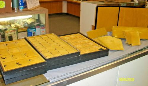 Vintage Yellow Velvet Jewelry Displays 32pcs.