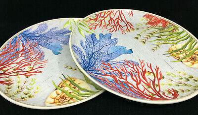 2 Dinner Plates Tropical Melamine Outdoor Better Homes Gardens Sea Plants