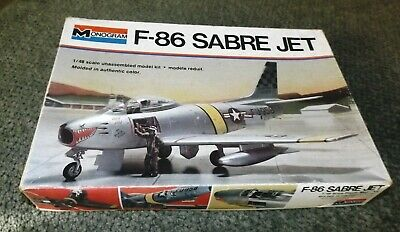 Monogram 1/48 F-86 Sabre Jet- USAF Fighter  - New in the open Box Sabre Jet Fighter