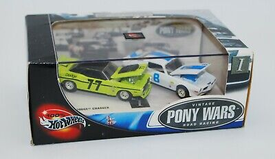 100% Hot Wheels - Vintage Pony Wars Limited Edition 2 Car Set, Firebird Charger