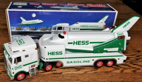 1999 HESS Toy Truck and Space Shuttle with Satellite Collectibles Toys Box