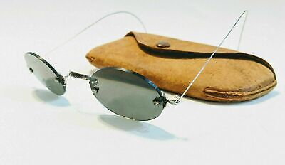 Antique American Calobar Sunglasses Steampunk Civil War Reenactor Wire Frame