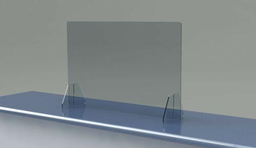 SNEEZE GUARD No Cutout NO Hole Acrylic Barrier SHIELD CHECKOUT COUNTER Desk