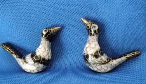2 Vintage Cloisonné Chinese Enamel Bird Beads