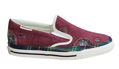 Patchwork-slip (Converse Skid Grip EV Patchwork Slip On Mens Trainers Tartan 102093F U90)