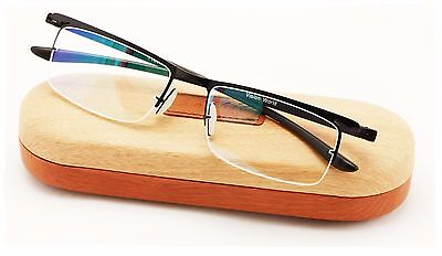 Half Rim Reading Glasses With Anti-reflective AR Coating and Anti-Slip nose -