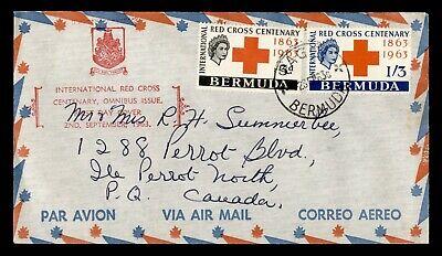 DR WHO 1963 BERMUDA FDC INTL RED CROSS CENTENARY  C244421