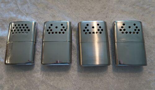 Vtg Hand Warmers Cigarette Lighter Metal Chrome ALL Jon-E Pat #s Lot of 4